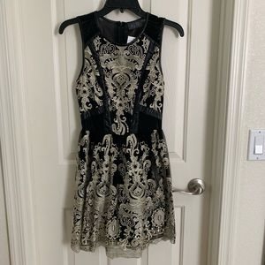 Dresses & Skirts - Black & Gold Lace with Sheer Sides and Back